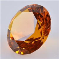 Amber Crystal Diamond Paperweight Wedding Gifts