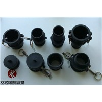Black PP plastic camlock couplings all types