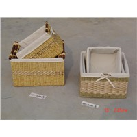 straw basket s/3