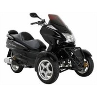 MC-C70 150cc Trike Scooter with Automatic Transmission, Windshield!Electric and Kick Start