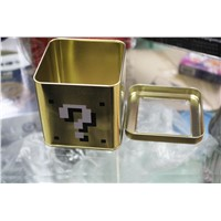 watch tin clear lid cube