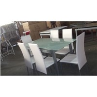 METAL FURNITURE DINING TABLE,DINING CHAIR