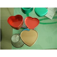 heart shape tin box, heart shape tin
