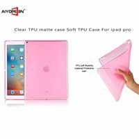 Factory Clear tpu Transparent matte Colorful case Slim Shell 12.9 inch Case for ipad pro