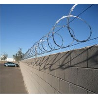 Razor barbed wire for prisons