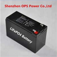 UPS,CCTV Backup battery rechargeable 4S LiFePO4 12V 8Ah battery pack with lead acid battery case