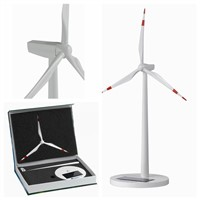 White painting Plastic Injection Solar Wind Turbine Model