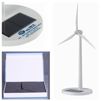White painting Plastic Solar Windmill for gifts