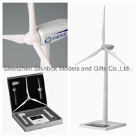 Zinc alloy and ABS plastic blades Solar Wind Turbine Model