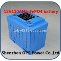 12V110ah LiFePO4 Battery for UPS Solor System Golf Carte- Wheelchair; E-Motor