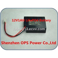 12V1 Ah LiFePO4 Battery with Same Lead Acid Battery Case for UPS Driving Light