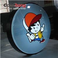 Christmas arriving!round pasting molding semitransparent luminous light boxes