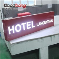 Christmas arriving!hotel rectangle customize luminous light boxes