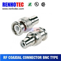 zinc alloy straight 75 ohm bnc male to rca female connector adapter wholesale