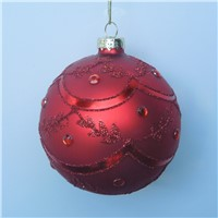 Christmas Day Glass Ball Decorative Hand Painting Glass Globes
