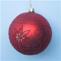 Christmas Day Hanging Glass Ball Handmade Glass Globe