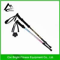 3 Section telescopic walking pole/trekking pole /nordic walking stick