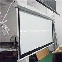 HD Matte White 3D 4K Electric Projector Screen With RF IR Remote Control