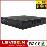 LS VISION 4ch Onvif NVR with Built-in POE switch CE,ROSH,FCC