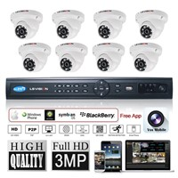 LS Vision 3MP 1080P 8 Channel POE NVR IP Camera CCTV Surveillance Kits