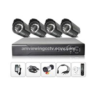 MiyeaEYE Cheap 4ch CCTV System, Economic CCTV Kit 4 Camera, 20M IR Range Camera Security System