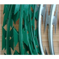 hot dipped Galvanized Razor barbed Wire for sales Professional manufacture