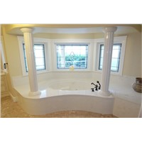 Beautiful Marble Bathtub with Pillar