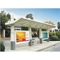 Stainless steel bus shelter for Adv