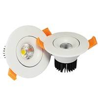 Indoor LED ceiling downlight luminaires 10watt