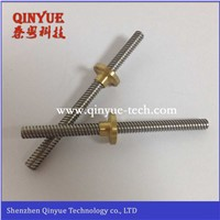 Precision lead screw in lathe processing