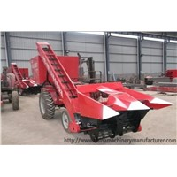 Self-propelled maize harvesting machine