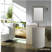 Simple Style Bathroom Basin with Wall Mirror