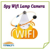 Hidden Spy Wifi IP Camera Hidden Bulb Lamp Camera WiFi P2P IP DVR  fisheye ip camera