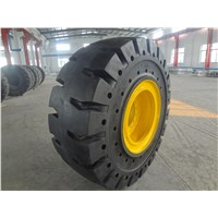 OTR Solid Tire with rim 17.5x25,20.5x25,23.5x23,23.5x25,the highest quality solid tire from China
