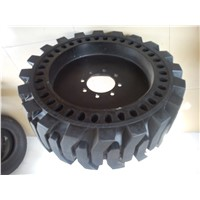 Skid steer solid tyres 12-16.5, 33x6x11 cured on solid tire