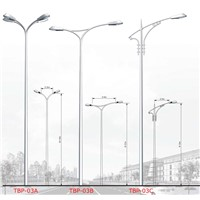 matt finish coated lighting pole TBP-03
