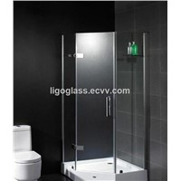 10mm tempered glass 3 sided shower enclosures for hotel