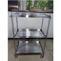 Stainless steel trolley for Hotel (HS-T-009)