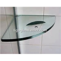 Clear toughened Shelf Glass for shower room with different shape