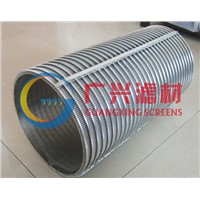 wedge wire drum screen for selfcleaning filter
