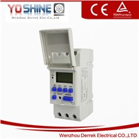 DIN Rail Digital LCD Power Programmable Timer AC 220V 16A Timer Switch (YX192)