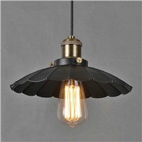 Black vintage pendant light, industrial chandelier countryside style pendant light