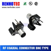 China Supplier 180 Degree BNC Female PCB Mount RF Connectors for Multi Wires