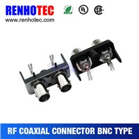 China Supplier Right Angle Two in Row BNC Jack PCB Mount RF Electricaal Connectors