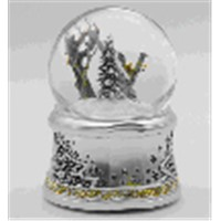Hot Sale New musical christmas snow globe/ electric christmas snow globe for home decor