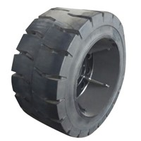 New solid tire big size 850X240-20,850X240-24,TOPOWER brand top quality 3 compound rubber solid tyre
