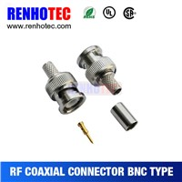 RG58 RG59 RG6 BNC Plug Crimp RF Magnetic Connectors