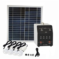 Off grid 150W pure sine wave inverter solar panel system with AC & DC output for home use
