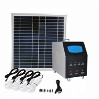 300W off grid AC & DC solar power system with 300W pure sine wave inverter