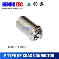 75 ohm F Type Female Circular Connector RF Electrical Coaxial F Connectors
